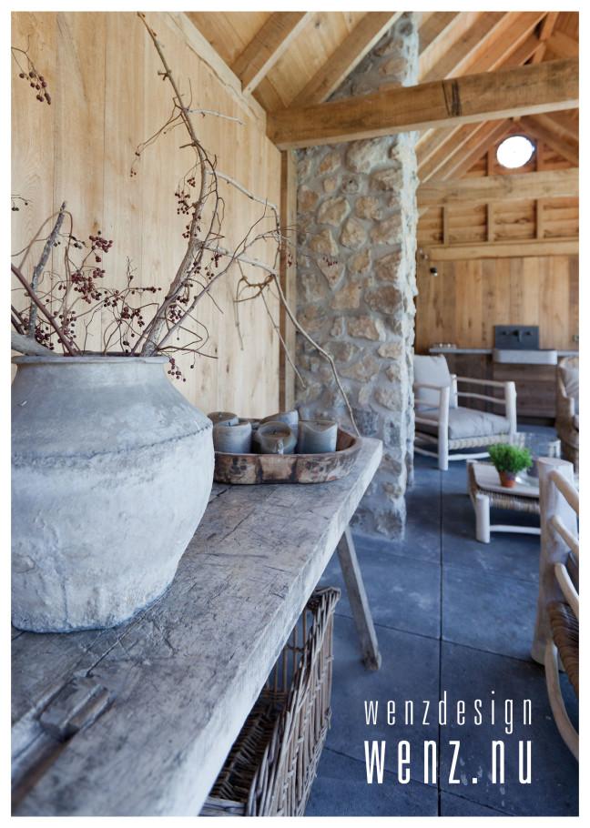 Poolhouse met mediterraanse uitstraling wenzdesign exclusief ontwerp en realisatie van - Ontwerp zwembad meubels ...