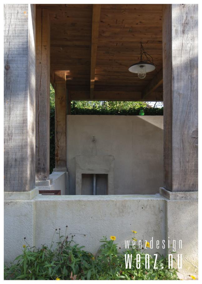 Robuust overdekt terras met bergingsruimte wenzdesign exclusief ontwerp en realisatie van - Overdekt terras in hout ...