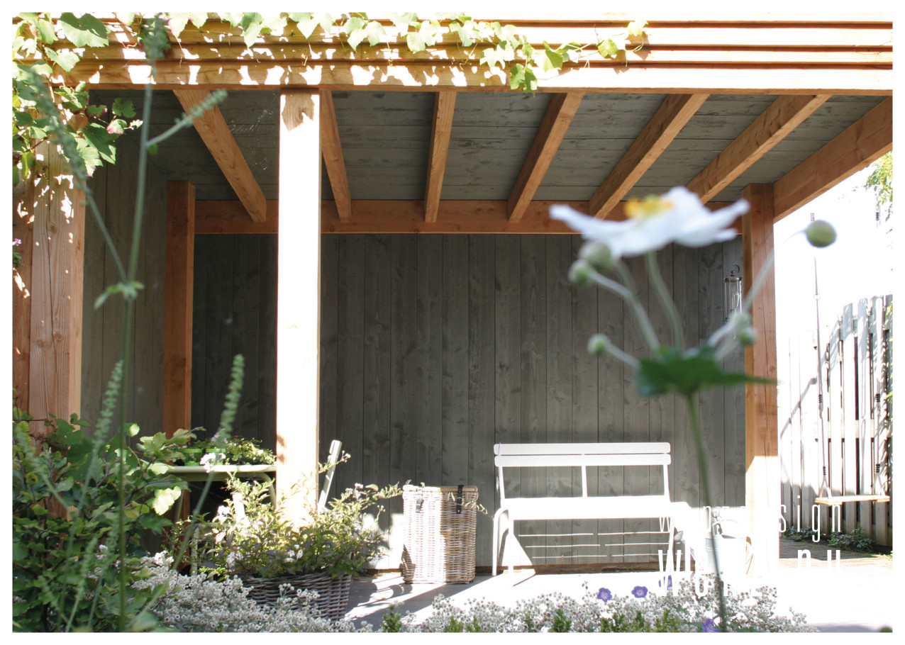 overkapping in kleine tuin biedt ruimte wenzdesign