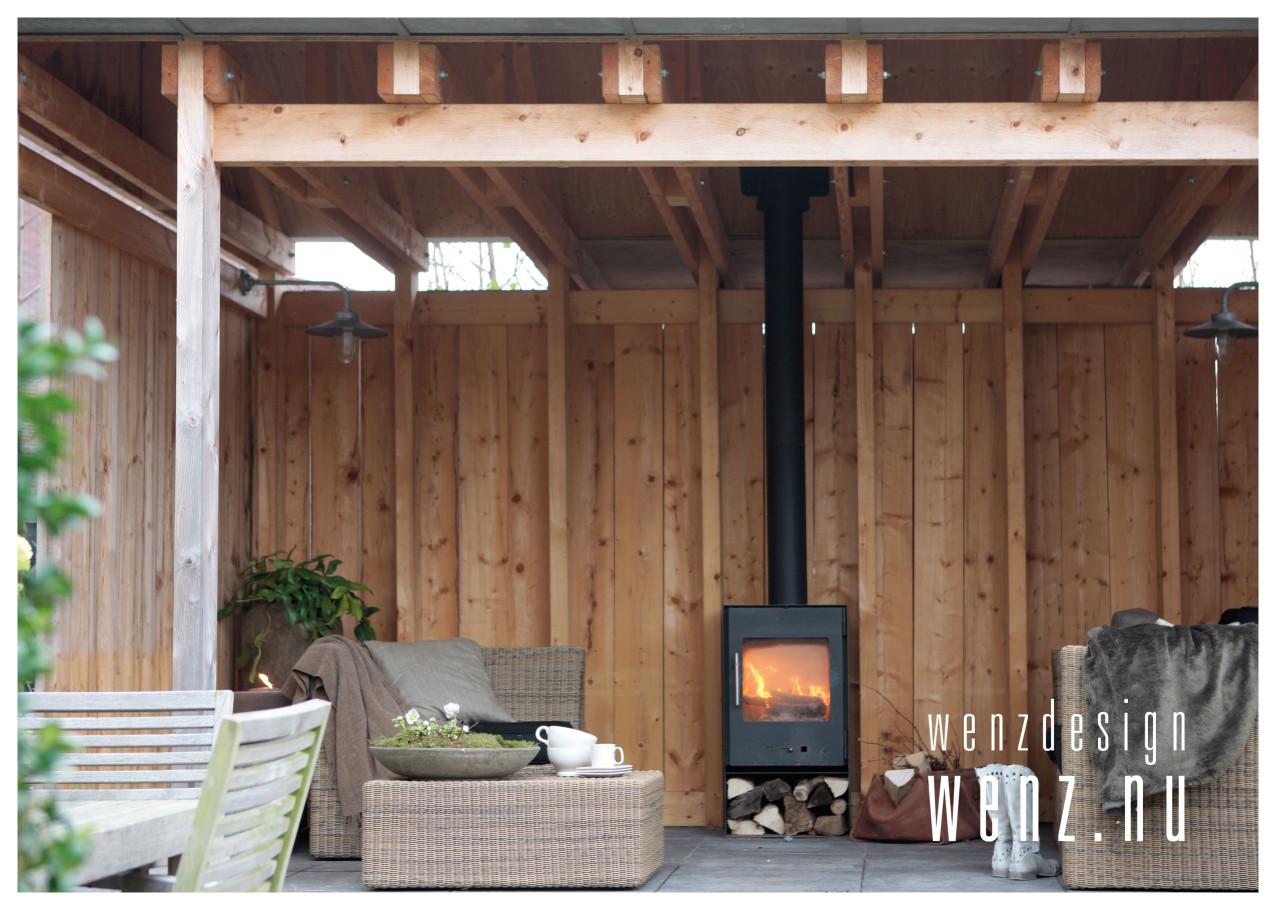 Vaak Buiten genieten van tuinhuis met openhaard - WENZdesign  FA98
