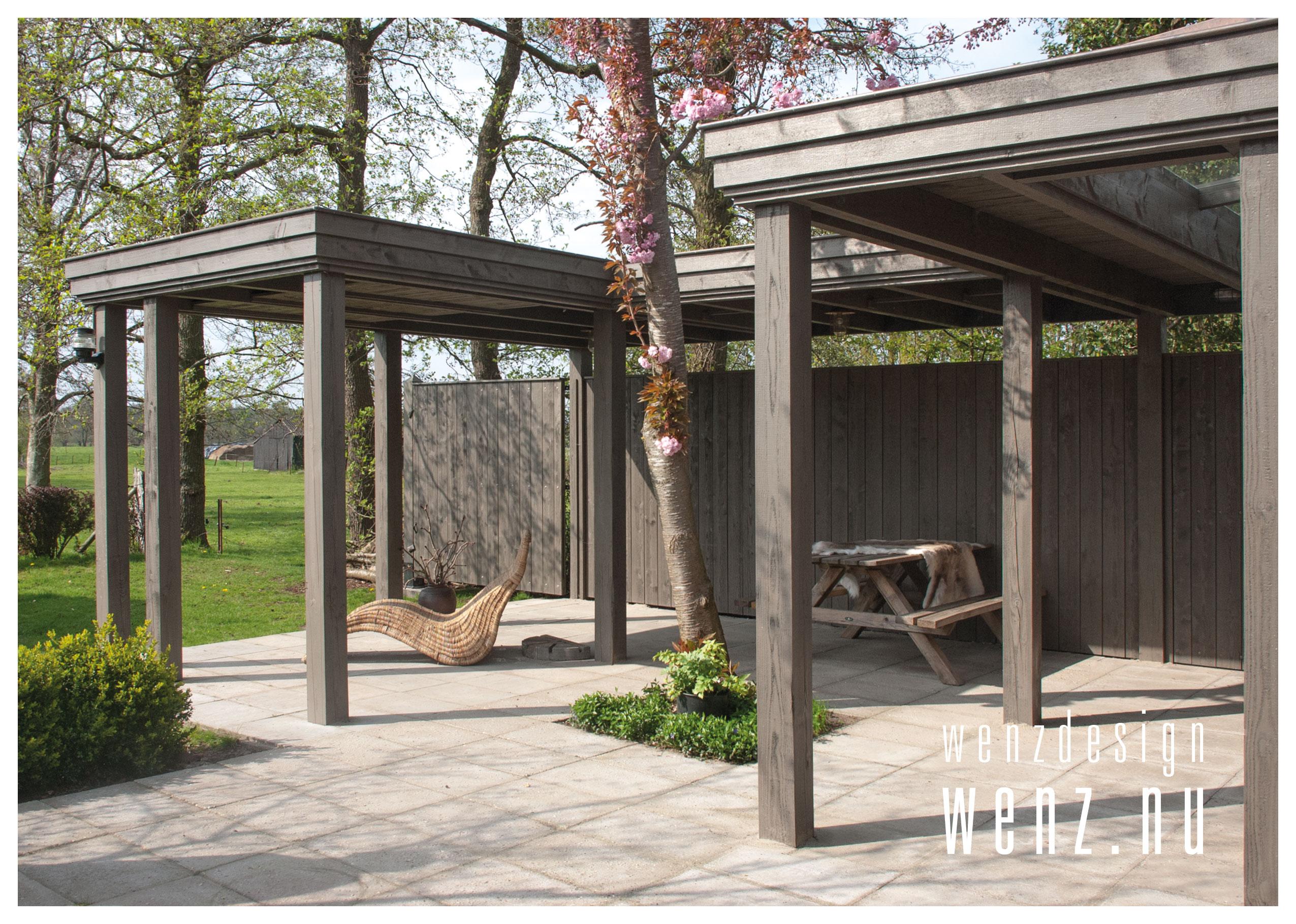 Houten Overkapping Tuin : Overkapping in uw tuin wenzdesign exclusief ontwerp en